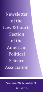 Newsletter of the Law And Courts Section of the APSA