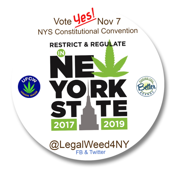 Vote yes! New York State Constitutional Convention, LegalWeed4NY, 2017-04
