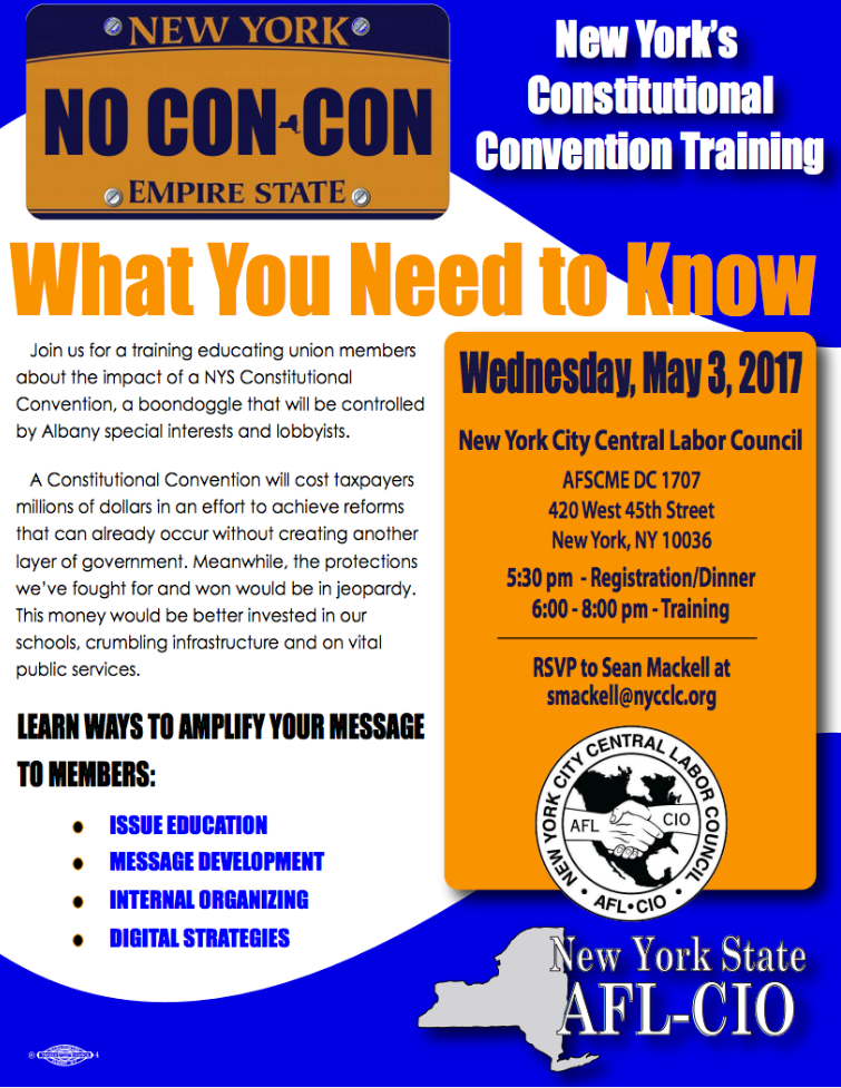 No Constitutional Convention Training, AFSCME, May 3, 2017